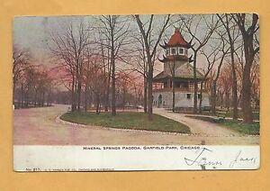 Mineral Springs Pagoda, Garfield Park,  Chicago, V O Hammon Pub. Co. # 217, 1907