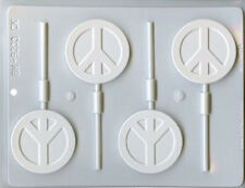 Assorted Peace Signs Hard Candy Chocolate Candy Mold CK #9233