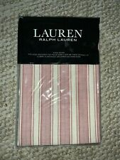 New! Ralph Lauren Graydon Stripe Dune Nantucket Red King Pillow Sham Msrp $135