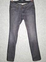 Jeans Pantaloni Donna Grigio Nero gamba dritta Active Wear Taglia 46 veste 44-46