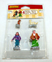 Old Ladies & Cats Lemax Set Of 4  Christmas Village Miniature Figurine Christmas