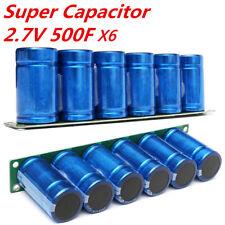 New 6X 2.7V 500F Farad Capacitance Super Capacitor w/ Protection Board 35X 60MM
