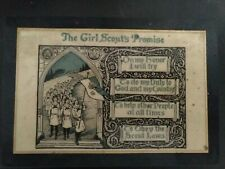 • 1930's/49's Girl Scout Promise Plaque