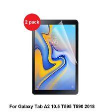 2 x Clear Screen Protectors Samsung Galaxy Tab A2 10.5 SM-T590 T595 2018 model