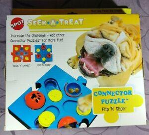 Dog Treat Seek-a-Treat Flip 'N Slide Treat Puzzle Dispenser for Dogs by SPOT
