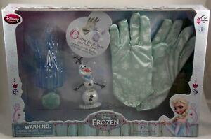 New Disney Store Frozen Princess Elsa Winter Gloves Set Control Ice & Snow Olaf