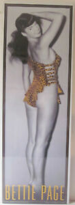 Bettie Page in Leopard Skin Shrink Wrapped Poster