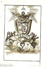 EX-LIBRIS maçonnique CREDO. XVIIIème siècle.