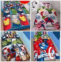 Marvel Avengers Single Double Bedding Set | Hulk Thor Iron Man Captain America