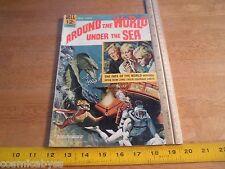 Around the World Under the Sea Movie Classis F 1960's Silver Age DELL comic