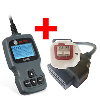 Adapter für Motorrad Yamaha 4 Pin Plug zu OBD 2 Adapterkabel Bike & MaxDia KT100