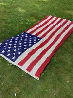 Vintage 4.5' X 9' American Flag Stitched Stars