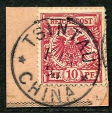 Kiautschou V 47 d  PA-Briefstück  Tsintau China