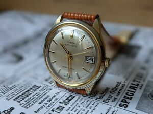 Gents Vintage Timex 1979 automatic Marlin Date Function Baton Watch  - Working