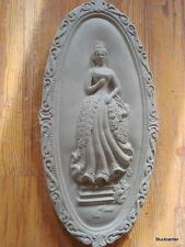 Plâtre de Façade Ovale Médaillon en béton 101-357B- Dames baroques 38x18 cm