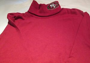 San Francisco 49ers Youth Medium Long Sleeve Turtle Neck T-Shirt  Majestic