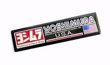 """3.4"""" YOSHIMURA U.S.A.Metal Aluminum Exhaust Plate Decal Sticker Emblem 3D Bike"""