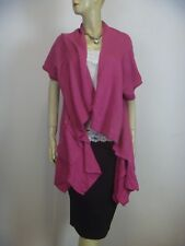 ELLA J Wool Mix Short Sleeve Drape Vest sz 16 NEW Tags - BUY 5 Items = Free Post