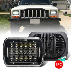 """5x7"""" 7x6"""" CREE LED Headlight Halo DRL For Jeep Cherokee XJ 1984-2001 Wrangler YJ"""