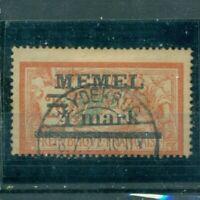 Memel,  auf französischer Marke Nr. 31 II  gestempelt