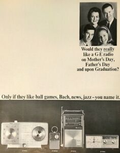 1964 General Electric AM FM Radios Mother's Father's Day Graduation Vtg Print Ad