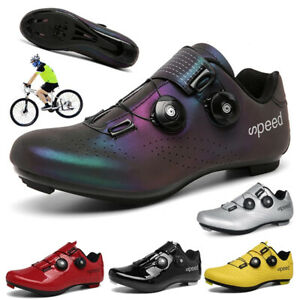 Professional Cycling Shoes Men  Bicycle Self Locking Sneakers SPD Cleats Peloton