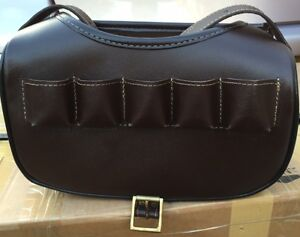 New Leather Cartridge Bag With Beautiful Design Attached Brass Buckles  (1 P)