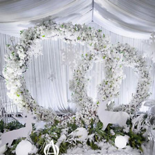 CLEARANCE! 7ft white Circle Metal Wreath Backdrop Stand Wedding Party Decoration