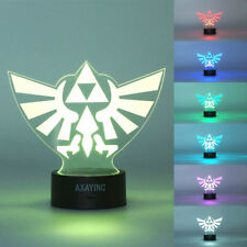 3D Legend of Zelda Triforce Night Light LED Decor Art Lantern Table Desk Lamp
