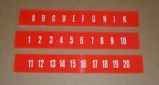 Ami Continental 2 Jukebox Selection Letters & Numbers Set