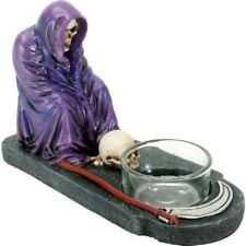 Pacific Giftware Purple Grim Reaper Votive Candle Holder Gothic Decoration