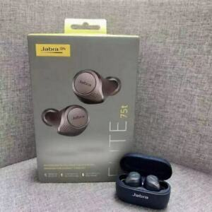 Jabra Elite 75t Black – True Wireless Earbuds with Charging Case, IPX5
