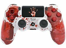 PlayStation 4 Console Controller w/ Awesome Bloody Design BEST for Shooter Games