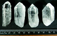 A Lot of FOUR! 100% Natural Translucent Quartz Crystals From Brazil 104gr