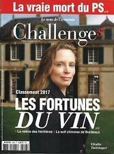 CHALLENGES N°526 15 JUIN 2017  FORTUNES DU VIN/ VRAIE MORT  PS/ SALON DU BOURGET