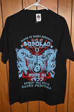 Official House of Blues Black 1977 Tokyo Japan Band T-Shirt Men's Size Large