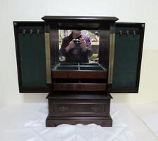 "Bombay Co Jewelry Chest Box Mahogany Cabinet w Drawers Mirror 21"" Lot of Storage"