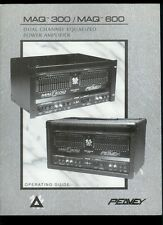 Rare Orig Factory Peavey Maq 300/600 Equalized Power Amplifier Owner's Manual