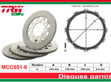Kit 6 Disque Garnis d'embrayage Harley FXRS-SP 1340 Low Rider Sport Edtion 85-89