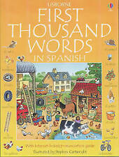 First Thousand Words in Spanish (Usborne First Thousand Words)-ExLibrary