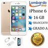 APPLE IPHONE 6 16GB GRADO A ORO GOLD ORIGINALE RIGENERATO RICONDIZIONATO USATO