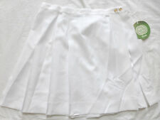 CYCLE BOSTON Pleated Tennis Golf Running Kilt Skirt #301, White, Size 3XL, NWT