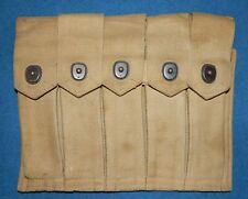 Original THOMPSON M1928 SMG 5 cell POUCH WWII USMC US Marine Corps WW2 NAMED!