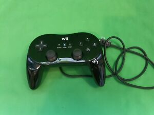Official Genuine Black Nintendo Wii Pro Classic Wired Controller ~ RVL-005(-02)