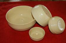 Lot de 4  -Saladier , terrine, bol - en terre cuite  fait main -  Vintage