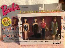Barbie Key Chains-4 in Box 1996 Mattel New in Box By Basic Fun