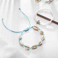 Women's Boho Shell Beads Anklet Beach Sea Sandal Bracelet Foot Ankle Jewelry