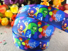 Inside Out Movie Character 25mm Grosgrain Ribbon for Card Making or Bows