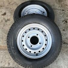 "2x 165R13C 8Ply new GT trailer tyres Wheels 4 Stud 5.5"" PCD 165R13 Ifor Wessex"