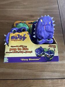 Brand New Kids Silly Slippeez Dizzy Dinosaur Slippers, junior size 4 - 6
